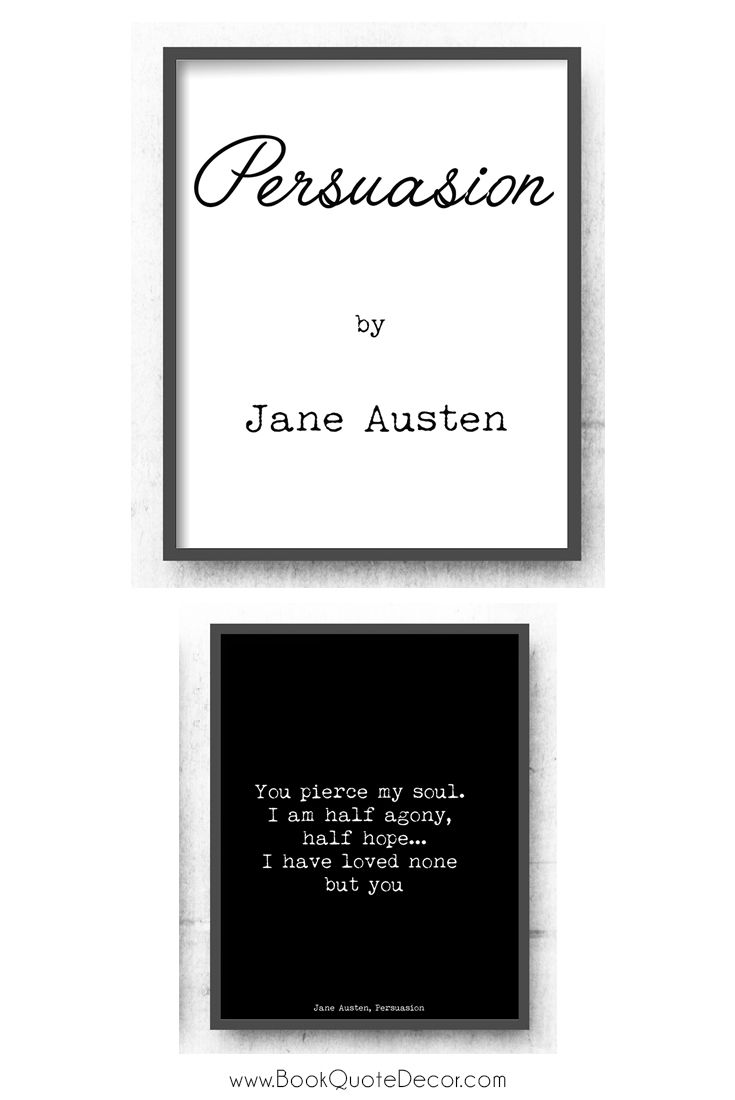 persuasion by jane austin Learn about jane austen's final novel, 'persuasion,' which was finished just before her death in 1817 we'll examine the plot of this novel and.