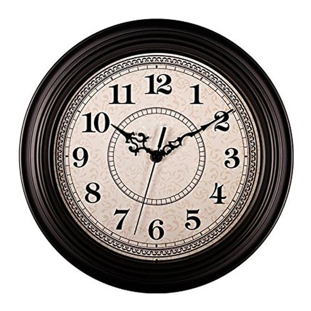 Silent Non Ticking Round Contemprary Antique Wall Clocks 12 Inches Decorative Vintage Style Black Review Antique Wall Clocks Wall Clock Silent Classic Clocks