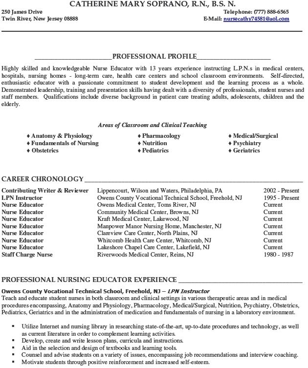Image Result For Community College Teaching Resume