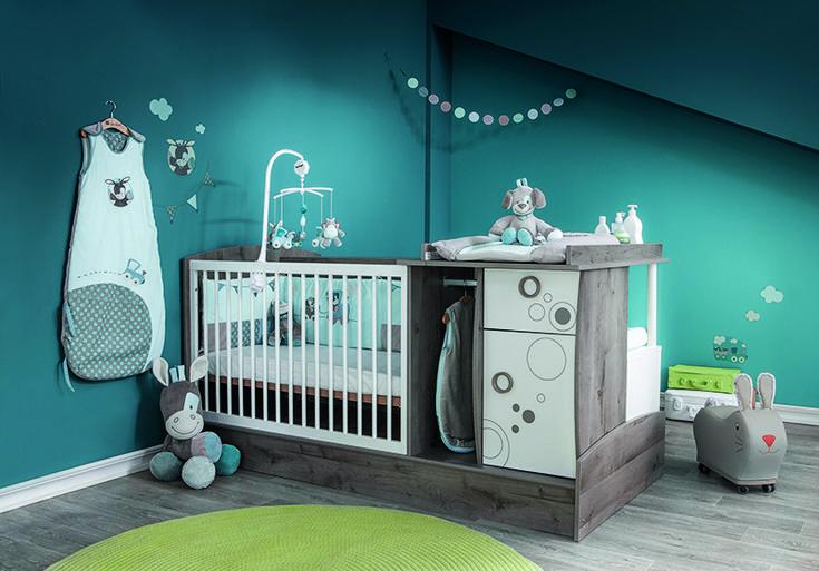Lit chambre transformable Oxygène de Bébé lune avec le thème Gaston et Cyril