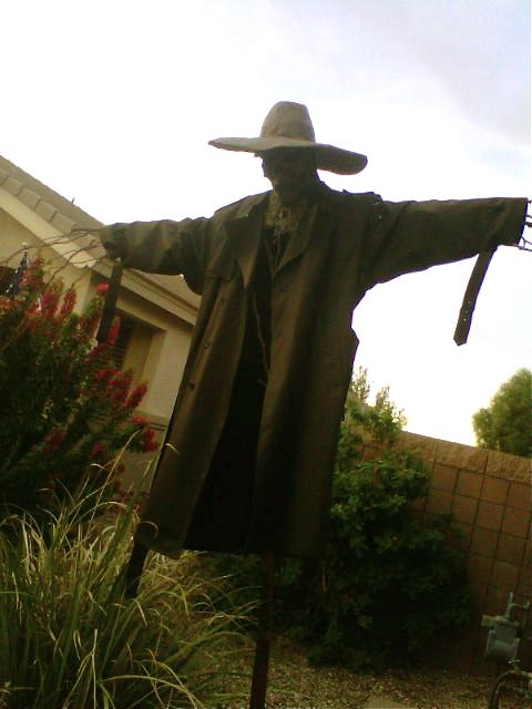 102 Wicked Things To Do: #31 Scarecrow. Very generous step-by-step on the building of an awesome scarecrow!