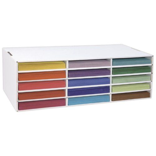 Really cheap! Under 15 dollars! I would use it for copies, not construction paper (since I'm not an elementary teacher or art teacher) Classroom Keeper Construction Paper Storage, 9 x12 inches Unit, 15 Slots, Slots Measure 12.5x9.25x1.5 inches (001310) Classroom Keepers,http://www.amazon.com/dp/B000F8VCT0/ref=cm_sw_r_pi_dp_OSSCtb1PP6P50J8A