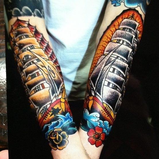 Tattoo Ideas Classic Ships Piercing Ideas Tattoo: 17 Best Ideas About Ship Tattoo Sleeves On Pinterest
