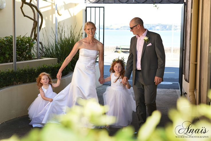 The bride and groom with their flower girls | Janet & Matt | Wedding | Duder's venue