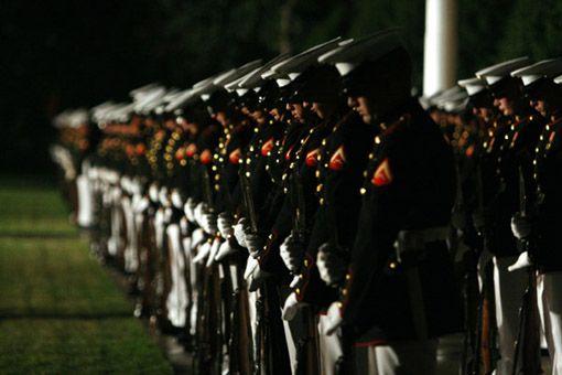 """Marine Corps Barracks 8th & """"I"""" Evening Parade"""