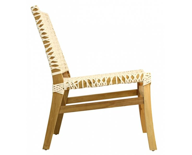 Apayo Occasional Chair (Woven Leather with Natural Teak) - Chairs | Weylandts South Africa