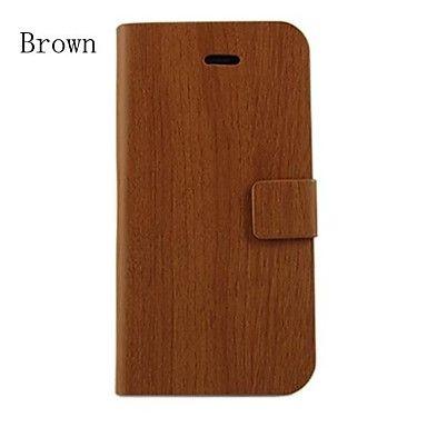 EUR € 8.63 - hout ontwerp patroon pu leer full body hoes met standaard voor iPhone 4 / 4s (diverse kleuren), Gratis Verzending voor alle Gadgets!