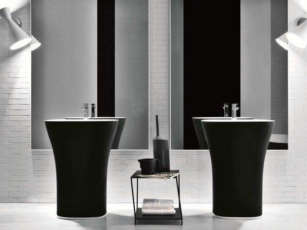 Delightful Freestanding Cristalplant Biobased Washbasin Freestanding Washbasin Scoop  Collection By FALPER | Design Michael Schmidt