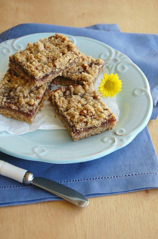 Raspberry-Pecan Blondies Recipe — Dishmaps