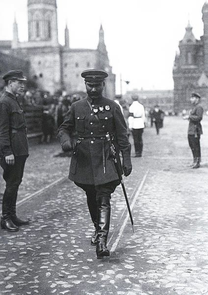 S.M. Budyenny (Soviet cavalryman, military commander, politician and a close ally of Soviet leader Joseph Stalin.) on Red Square. 1927.