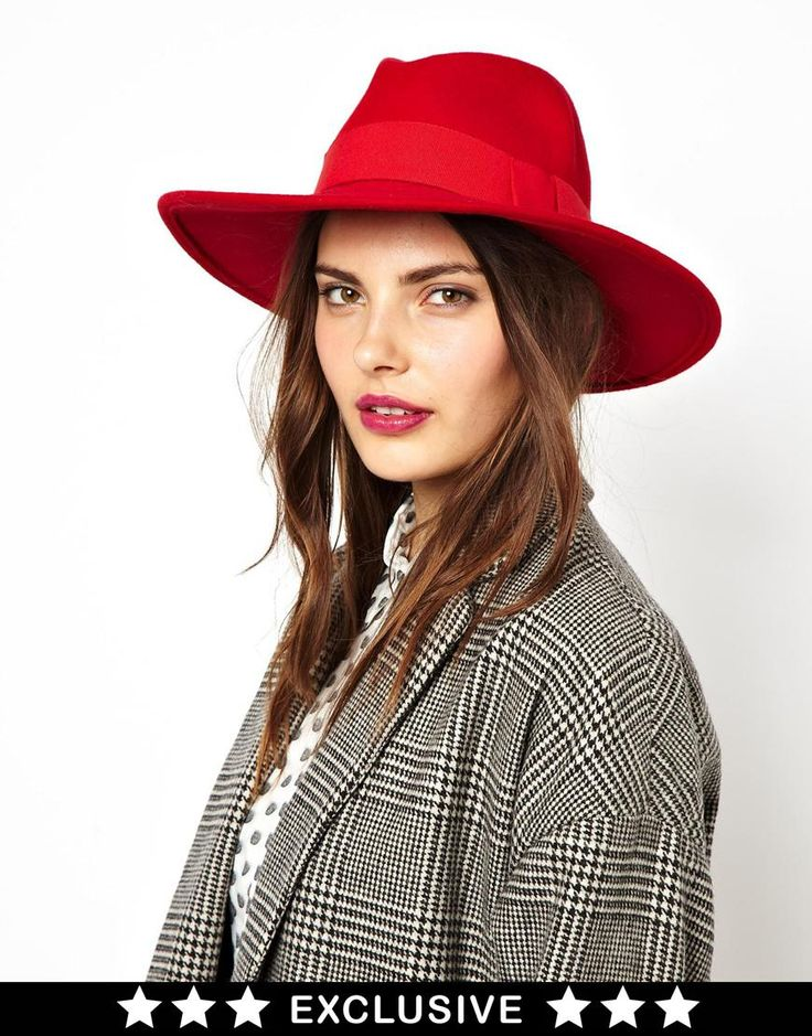 Such a great hat! (A little Carmen San Diego even!) Classic Red Fedora Hat, at ASOS, $55.56