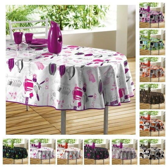 Extra Large Oilcloth Quality PVC Tablecloth Rectangular Oval 8 10 Seater