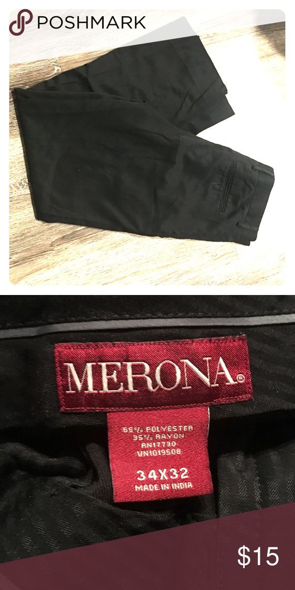 Men's Black Merona Dress Pant Super light material. Feels more like dickey pants than dress pants. Merona Pants Dress