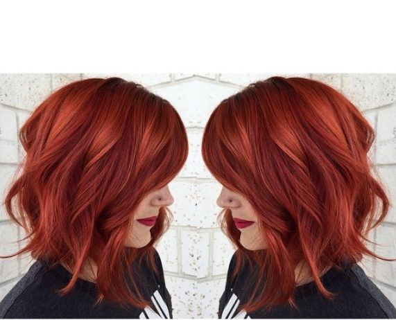2015 color trends! Find more trendy hair here:http://goo.gl/ycOvLz #aliqueenmall #aliqueenhair #bobhaircut #haircolor #colorhair #orange #red