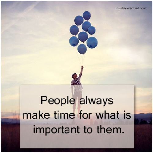 always, time, important