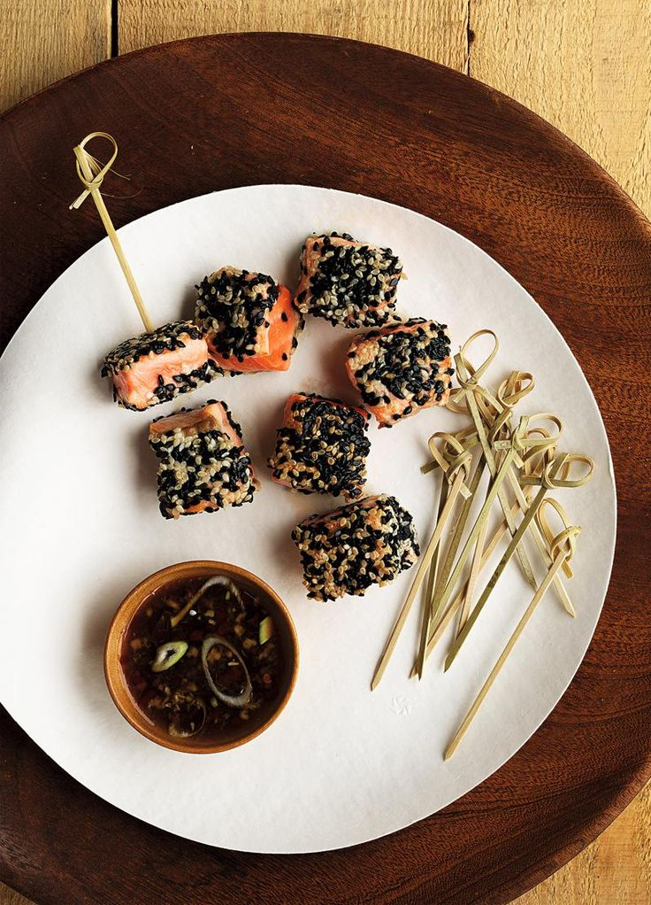 Sesame Salmon Skewers