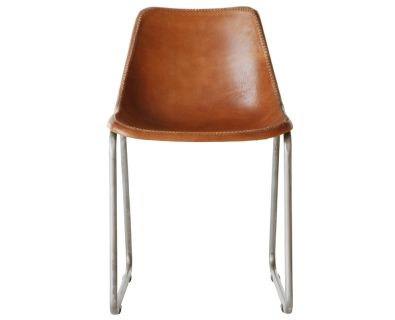 Moulded Leather Chair | Tan