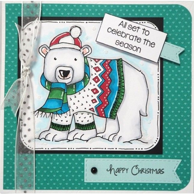 Woodware Clear Stamps - Seasonal Bear