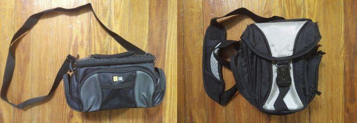 2 Camera bags- DSLR bag and Videocamera bag with shoulder strap
