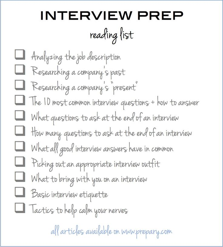 list of interview questions