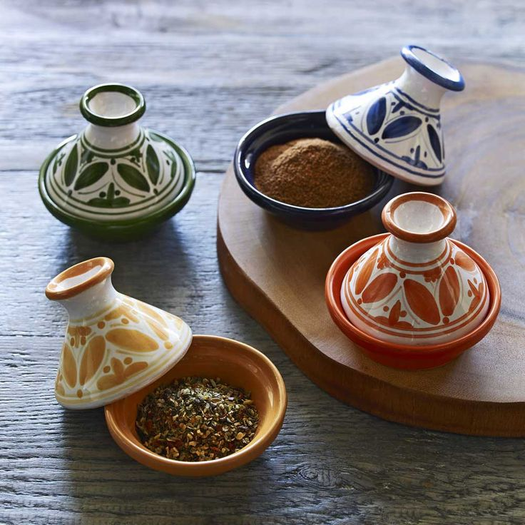 Cute Bring some worldly charm to your table settings and china cabinet with these delightful mini tagines