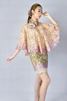 Hasil gambar untuk cape dress brokat