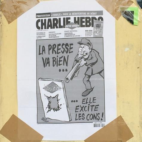 Placardé sur la façade de l'université Aix-Marseille