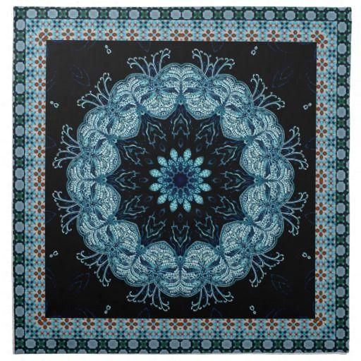 Bright Blue Star Mandala
