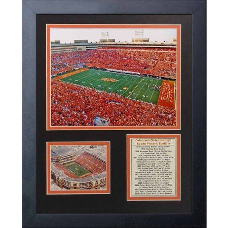 Legends Never Die Oklahoma State Cowboys Boone Pickens Stadium Framed Photo Collage, 11 inch x 14 inch