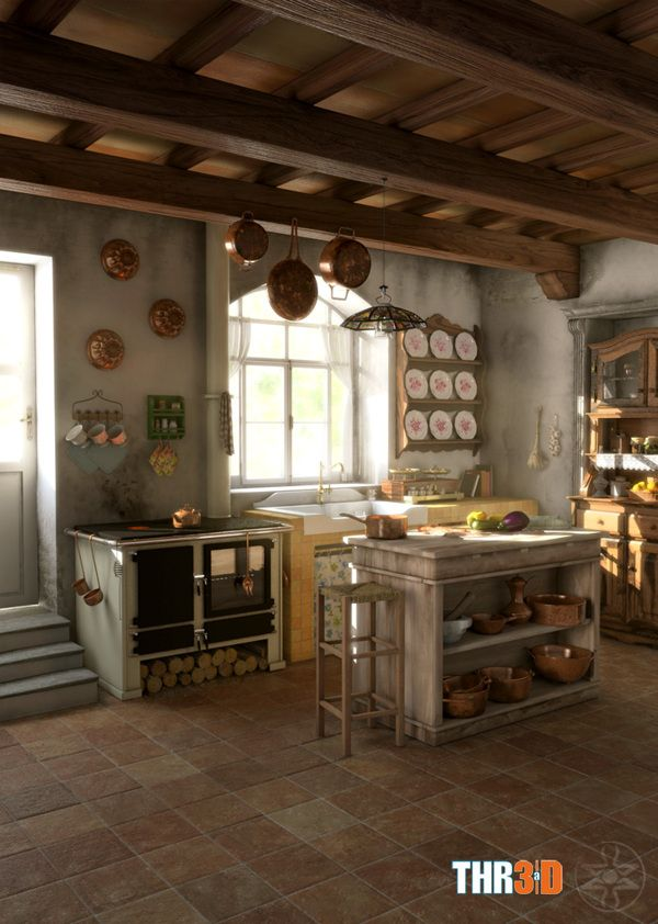 82 best la cucina italiana italian kitchen images on for Arredare una taverna rustica
