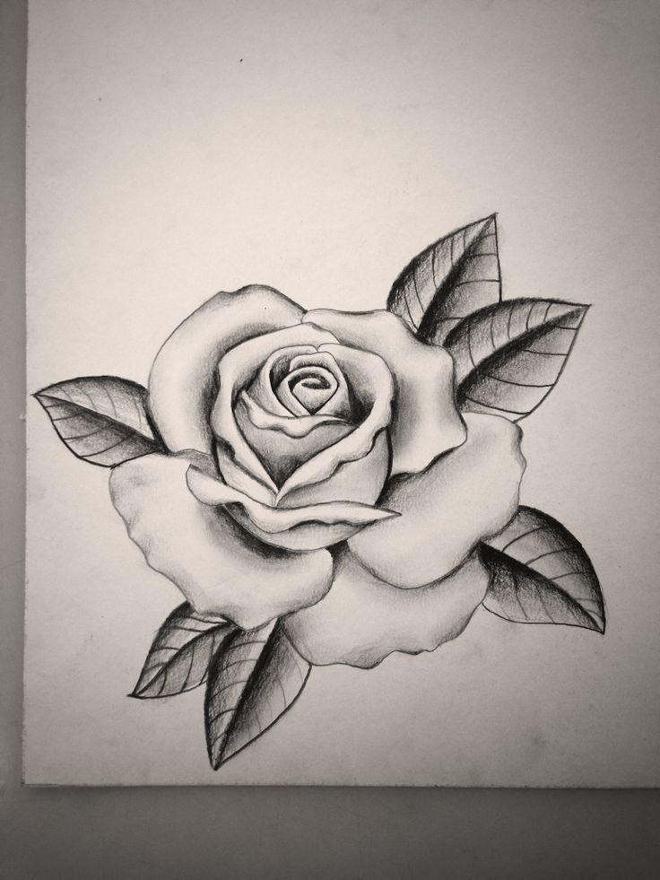 Rose Drawing Tattoo Easy Rose Tatoo
