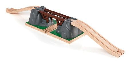 Brio Collapsing Bridge BRI-33391 Ready set collapse! The train comes closer and closer to the bridge unaware that it is about to collapse once you press the red button. Now no trains can pass until the bridge has been rebuilt again.  http://www.MightGet.com/january-2017-12/brio-collapsing-bridge-bri-33391.asp
