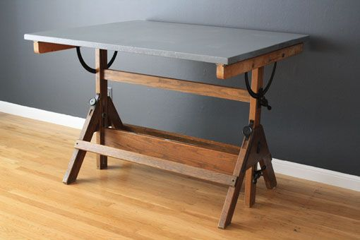 mid-century modern drafting table