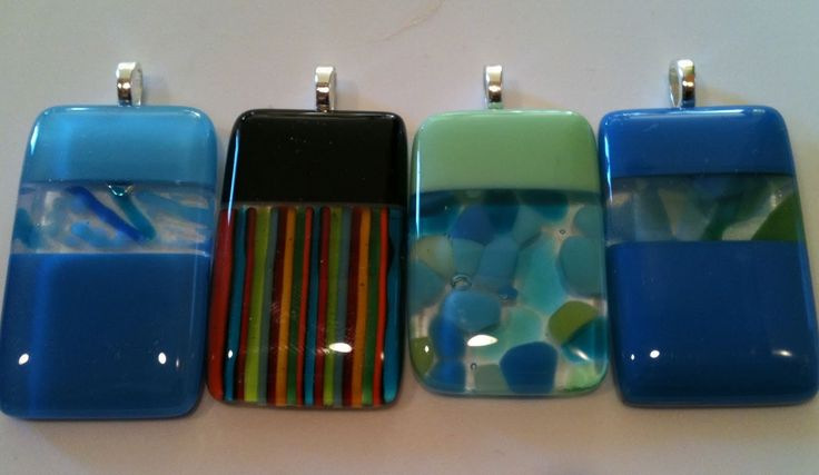 Fused Glass Pendants--3 for $25 every Thursday this Fall at Starving Artist Studio.