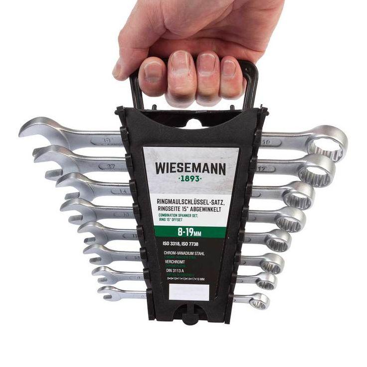 Set chiavi con forchetta e anello da 8 pezzi 8-19 mm | WIESMANN 80201 | set chiavi per viti con