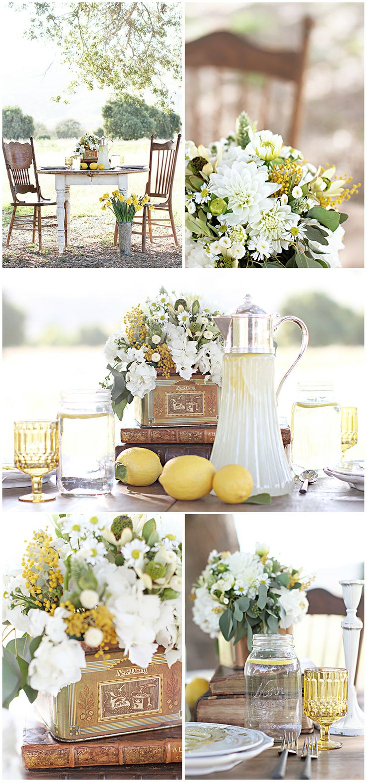 Top Right Hand Corner - Ideal Flowers. Dahlias, wattles, and Easter daisies. Only thing I would consider changing would be changing the greenery to baby's breath.
