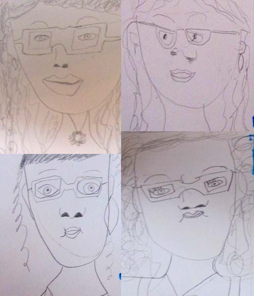 Some 15 minute sketches the children did today of one of our teachers! Great work kids!