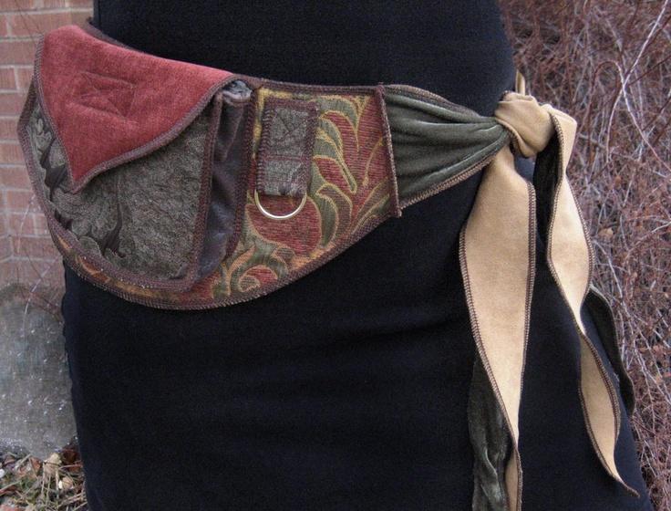 Fall Fairy - Festival Pocket Belt - Utility belt - Renaissance - Burlesque. $178.00, via Etsy.