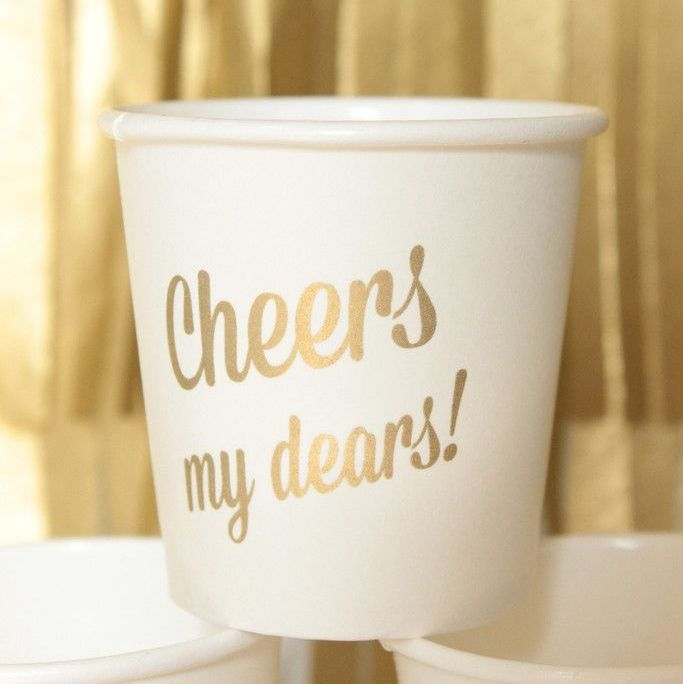 Mini Drink Cups - Cheers My Dear - Set of 12