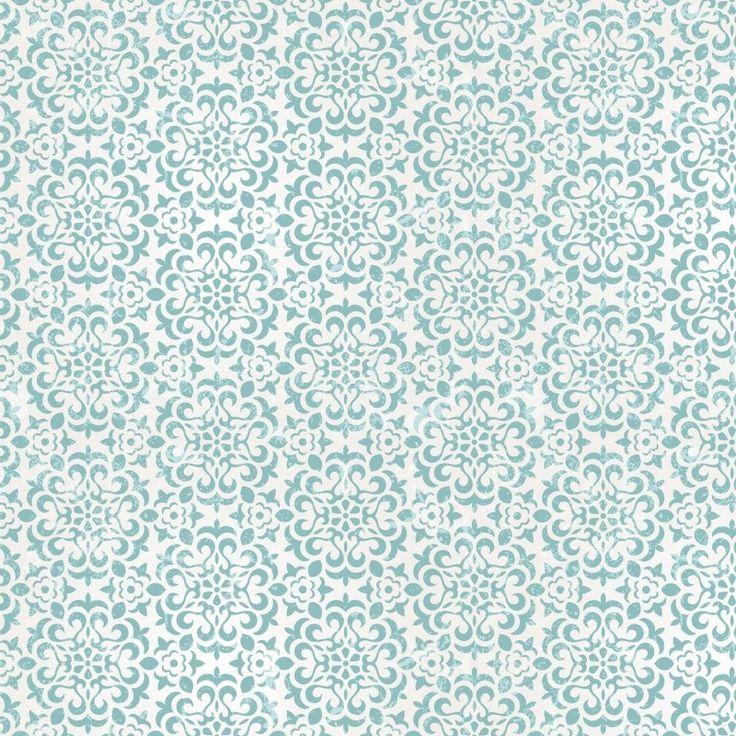 Kitchen Wals behang retro bloem groen blauw