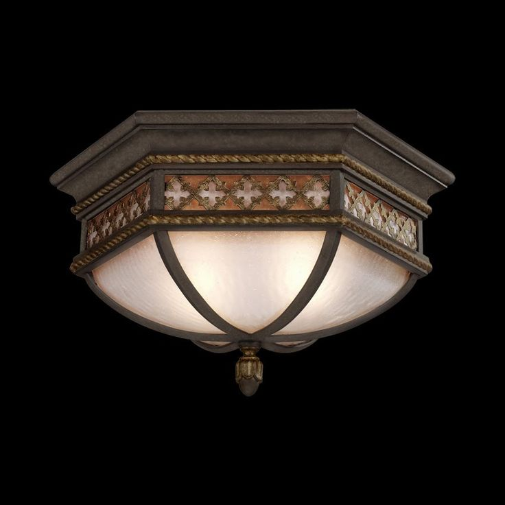 Fine Art Lamps 403082ST Chateau Outdoor Collection Flush Mount | ATG Stores