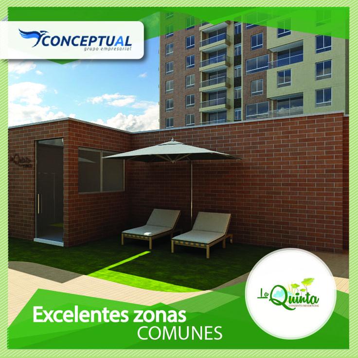 Con 316 apartamentos diseñados para el bienestar de su familia La Quinta cuenta con espacios de recreación como salón social, cancha múltiple, juegos infantiles, piscina para adultos y niños y más. Si este proyecto es de tu interés escríbenos en el siguiente link http://goo.gl/7uMSFA