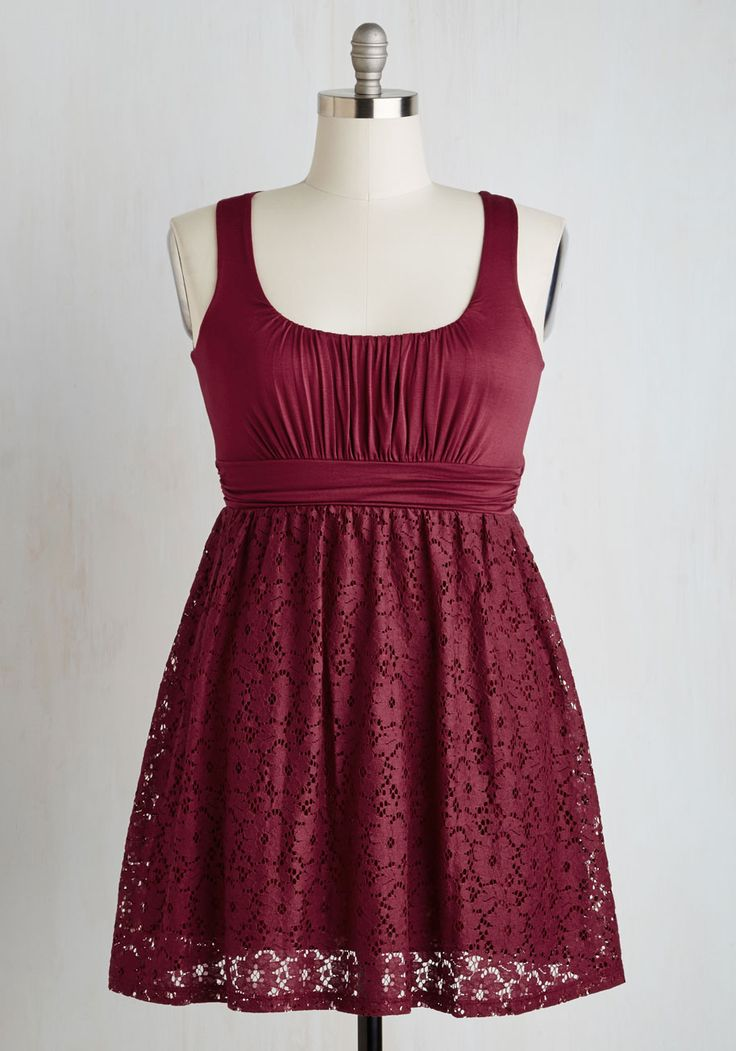 Artisan Iced Tea Dress in Raspberry. This sleeveless, scoop neck dress reminds us of a cool, sweet, raspberry-infused iced tea. #red #modcloth