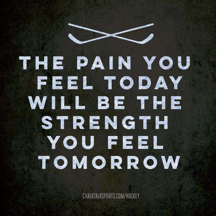 No pain no gain especially in hockey