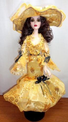 Золото-Южно-Бель-платье-шляпа-Кукла-костюм для Тоннер-Эванджелин-жуть-1-4-БЖД