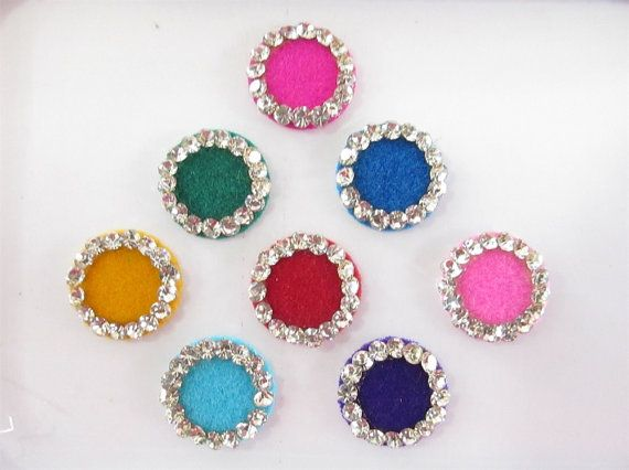 Jessica Beautiful Colored round  Bindis In One by Beauteshoppe