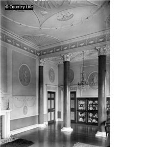 The drawing room, fomerly the dining room at Nuthall Temple. The house, which was built in 1757 for Sir Charles Sedley to designs by Thomas ...