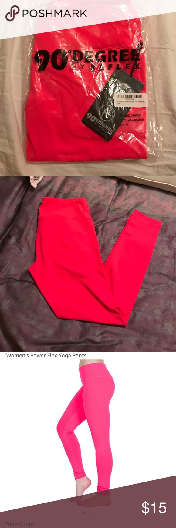 90 degrees neon watermelon leggings Bought two - didn't return in time - best leggings for yoga/ hanging - so comfy- amazing quality 90 Degree By Reflex Pants Leggings