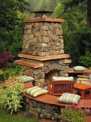#PinMyDreamBackyard  Backyards Decorating Ideas-Now that's a fire pit!!