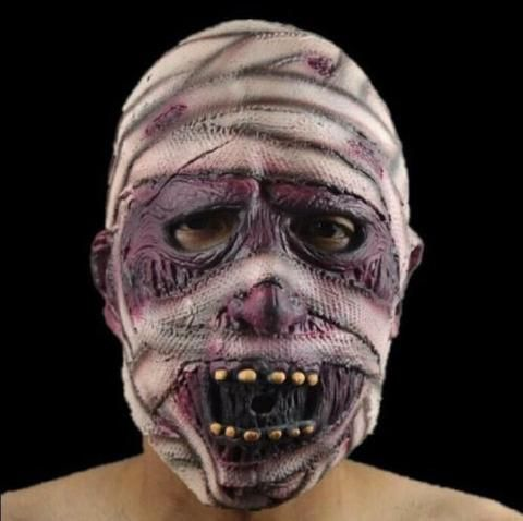 Halloween Scary Zombie Mask Mummy Full Face Mask Cosplay Fancy Dress Party Favor